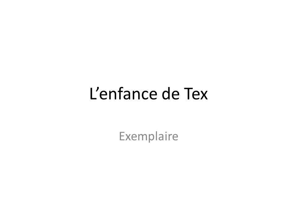 Lenfance de Tex Exemplaire