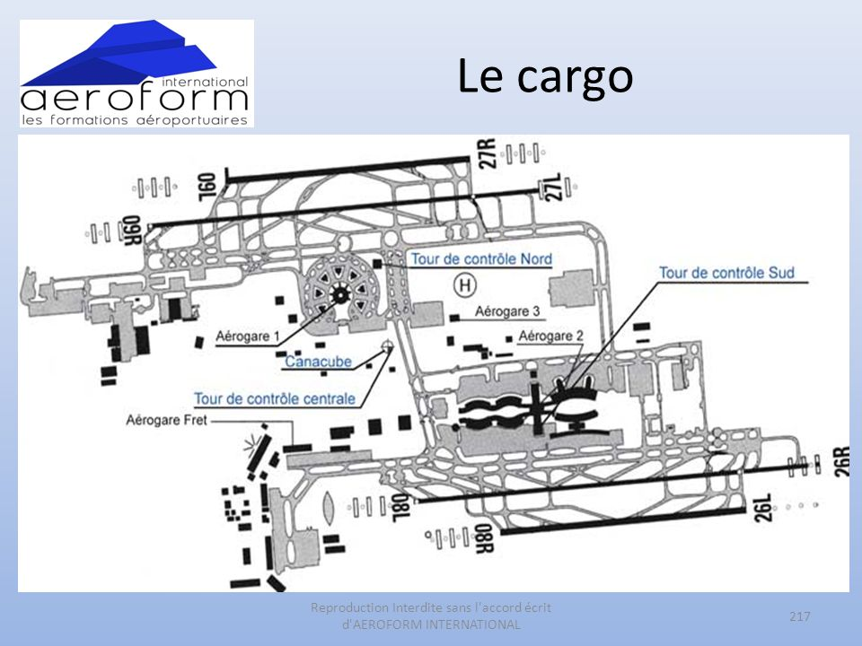 Le cargo 217 Reproduction Interdite sans l accord écrit d AEROFORM INTERNATIONAL