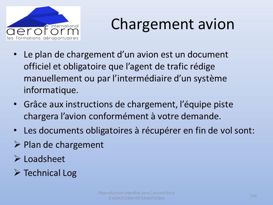 Chargement avion Le plan de chargement dun avion est un document officiel et obligatoire que lagent de trafic rédige manuellement ou par lintermédiair