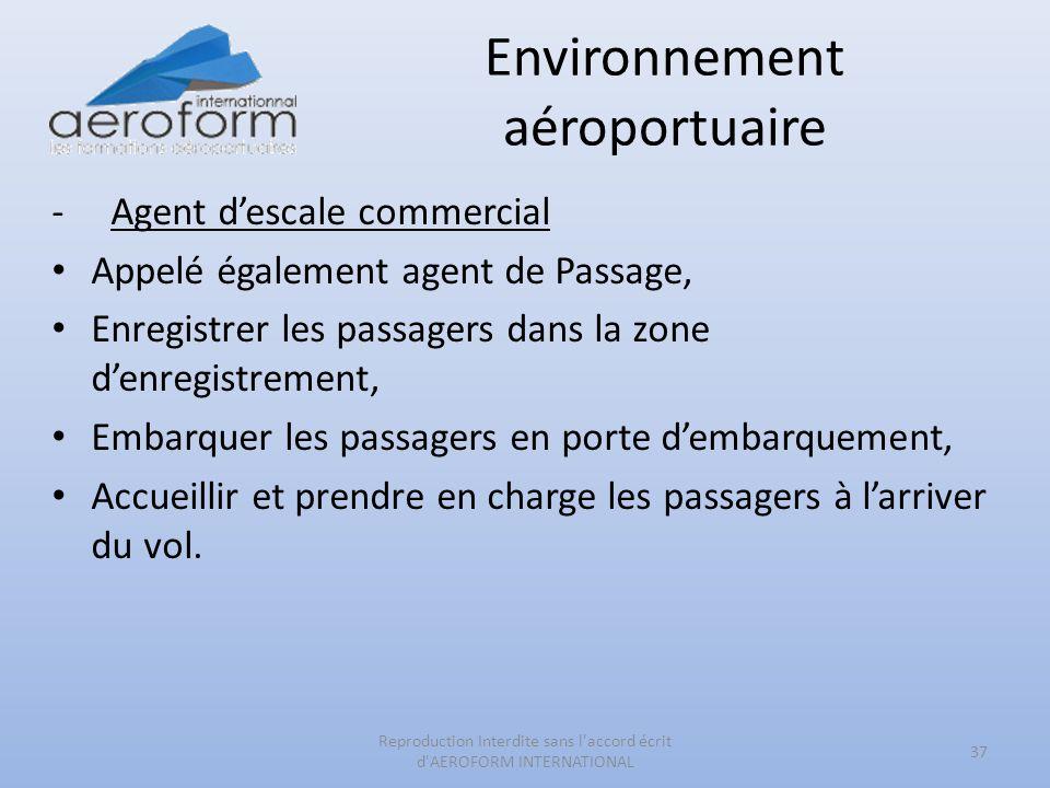 Environnement aéroportuaire -Agent descale commercial Appelé également agent de Passage, Enregistrer les passagers dans la zone denregistrement, Embar