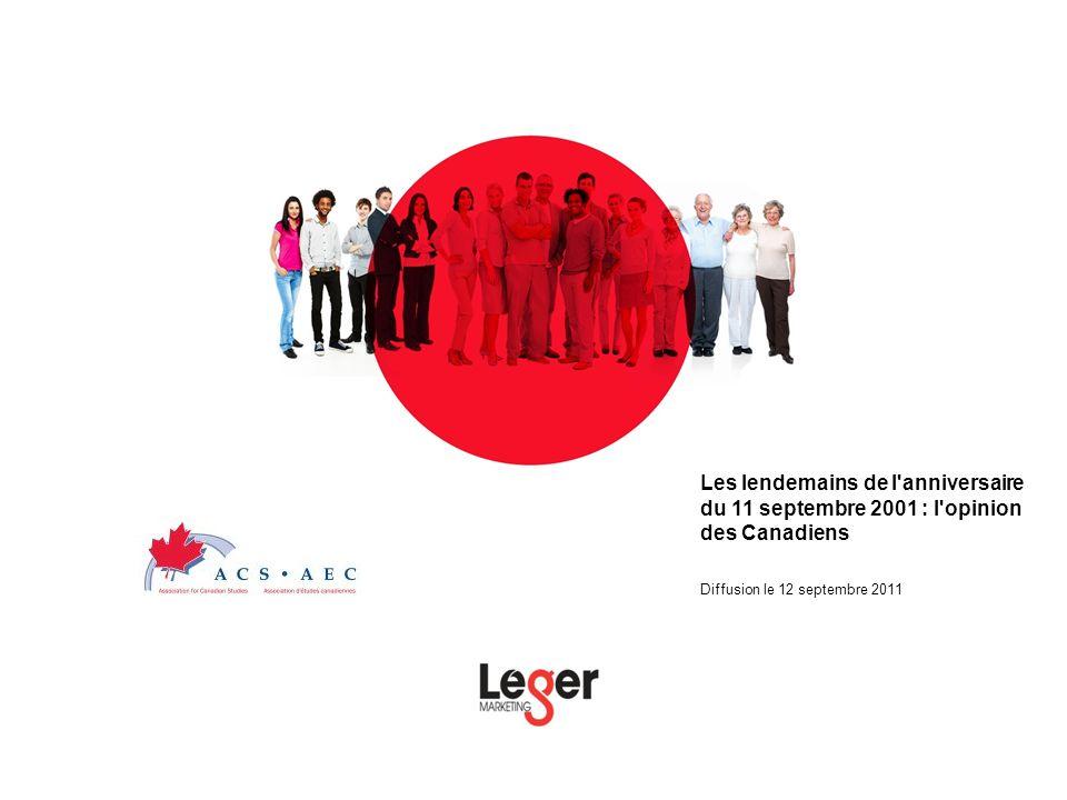 Les lendemains de l anniversaire du 11 septembre 2001 : l opinion des Canadiens Diffusion le 12 septembre 2011