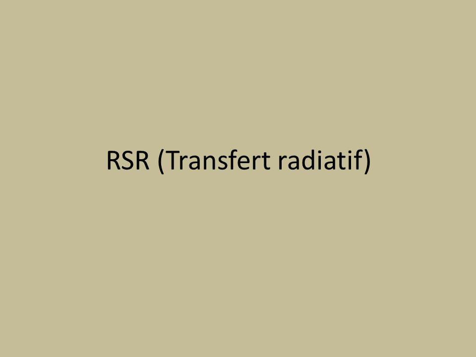 RSR (Transfert radiatif)
