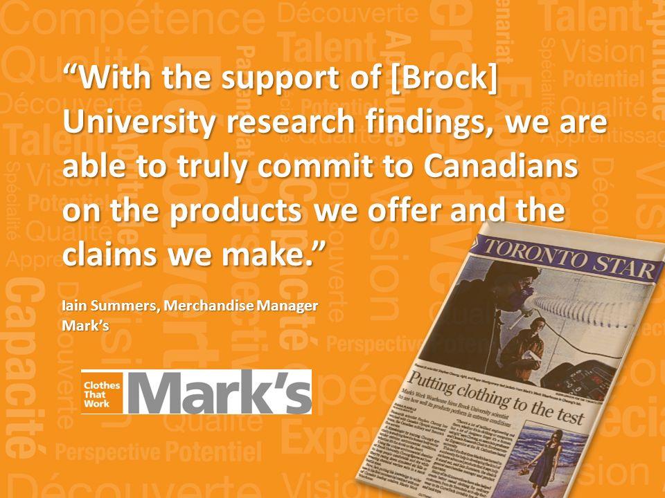 « La Vancouver Island University sest avérée être un partenaire précieux au fil des années.