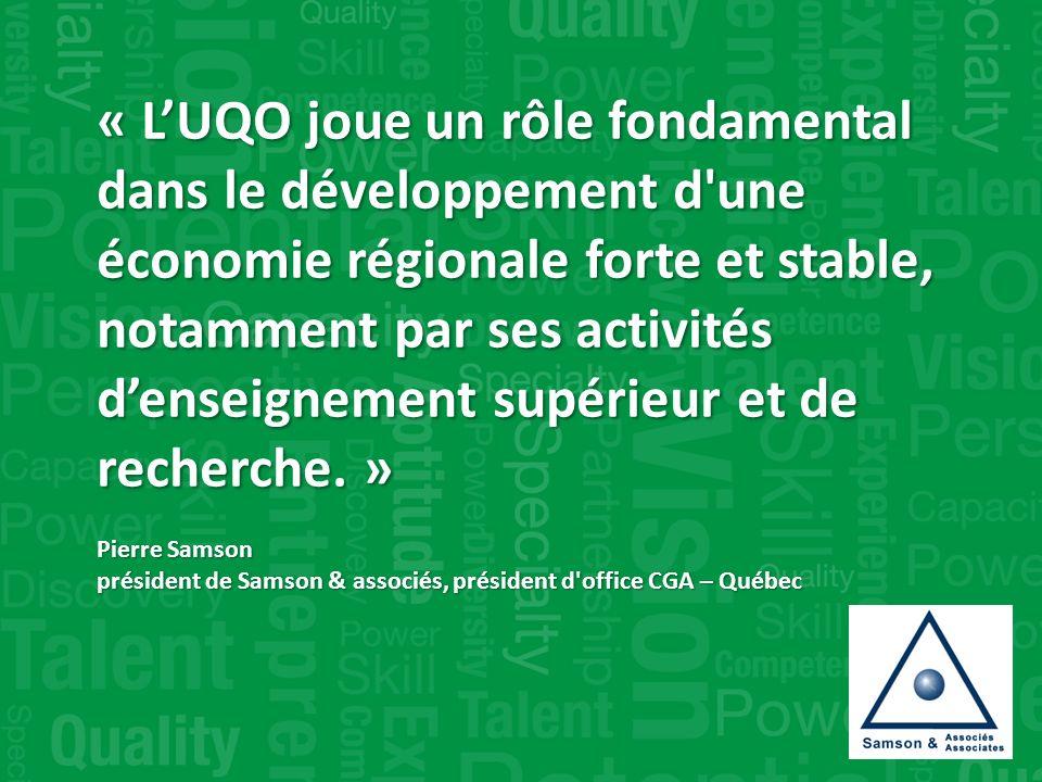 « LUQO joue un rôle fondamental dans le développement d une économie régionale forte et stable, notamment par ses activités denseignement supérieur et de recherche.