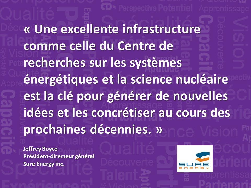 « Une excellente infrastructure comme celle du Centre de recherches sur les systèmes énergétiques et la science nucléaire est la clé pour générer de nouvelles idées et les concrétiser au cours des prochaines décennies.