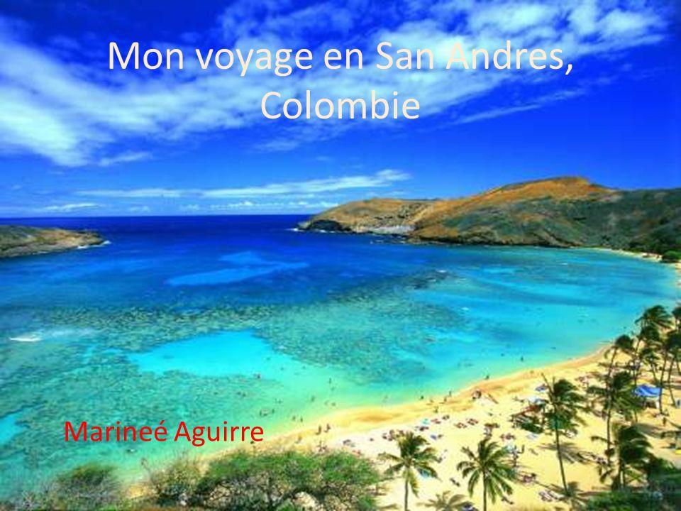 Marineé Aguirre Mon voyage en San Andres, Colombie