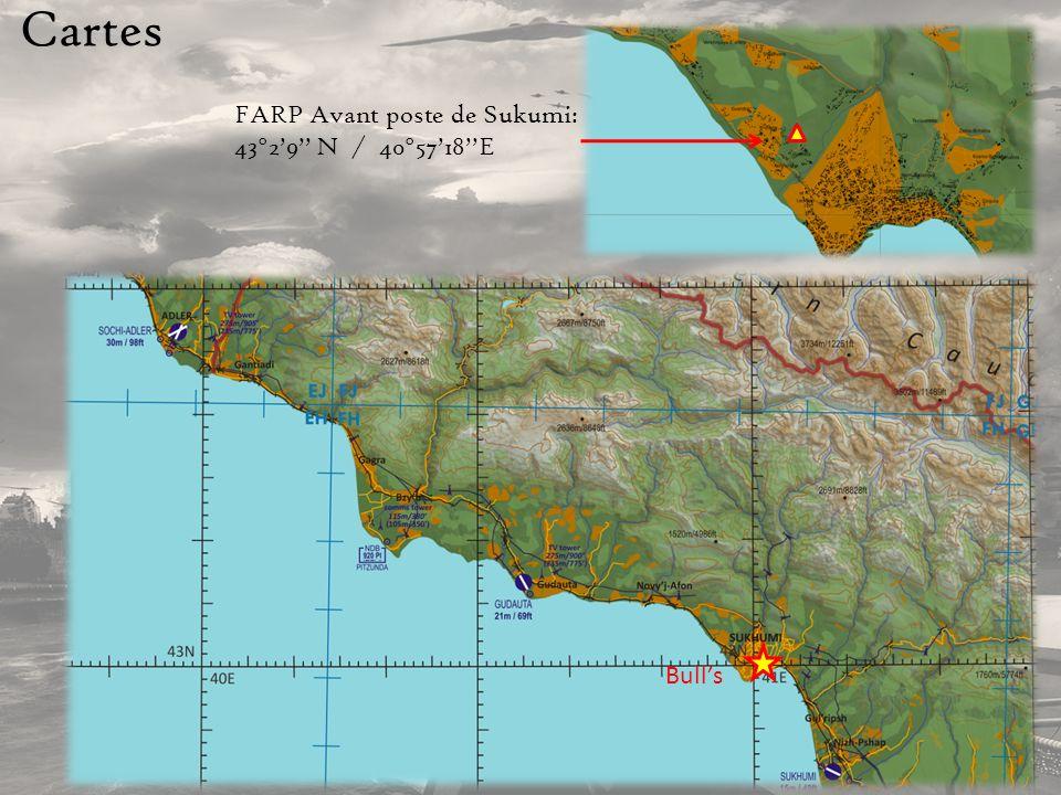 Cartes FARP Avant poste de Sukumi: 43°29 N / 40°5718E Bulls