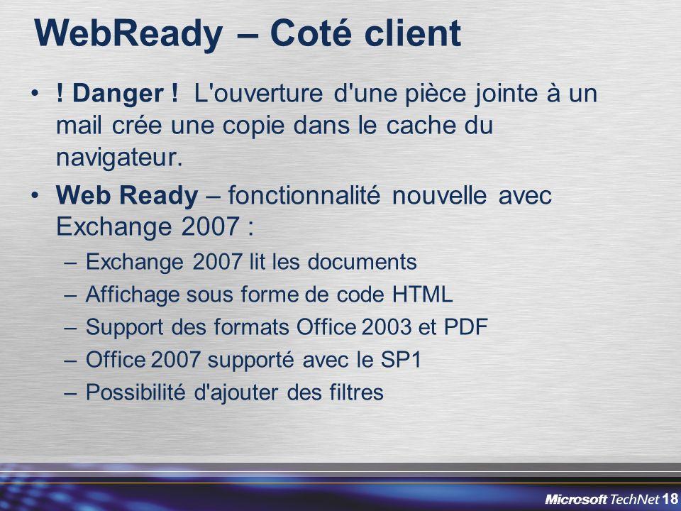 18 WebReady – Coté client .Danger .