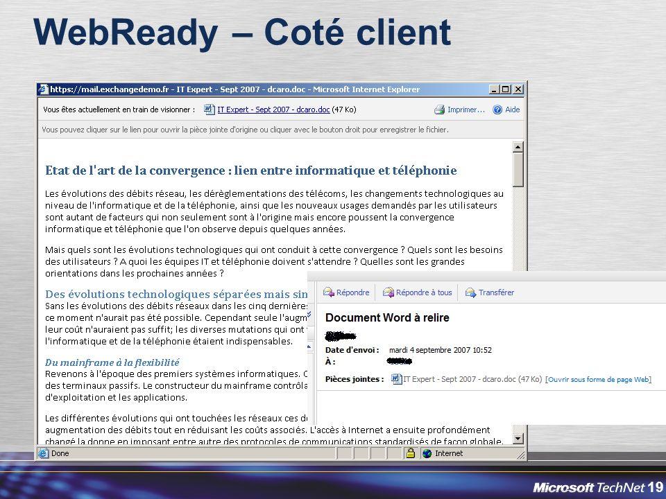 19 WebReady – Coté client