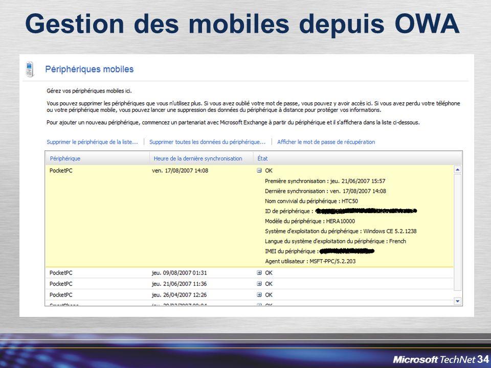 34 Gestion des mobiles depuis OWA