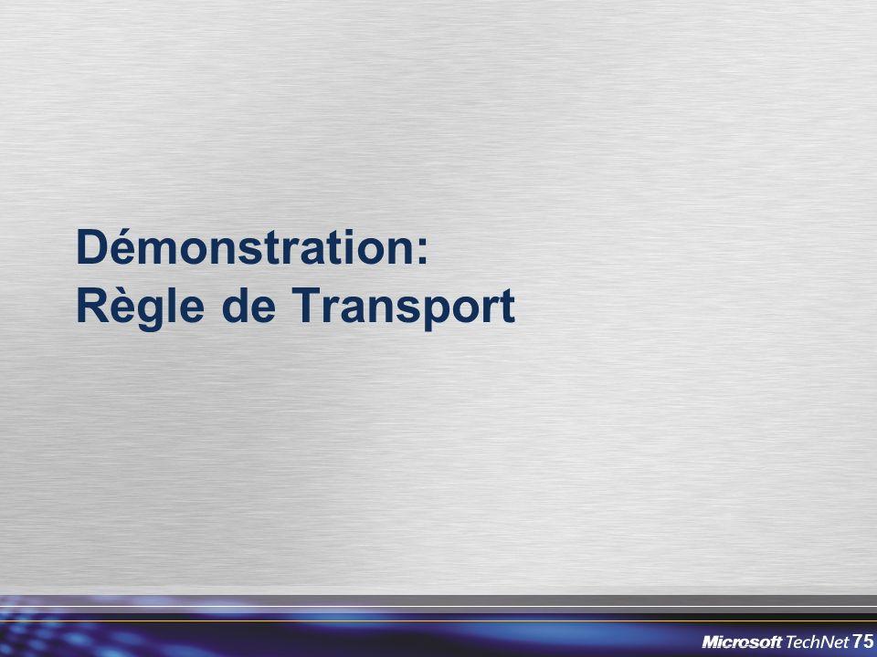 75 Démonstration: Règle de Transport