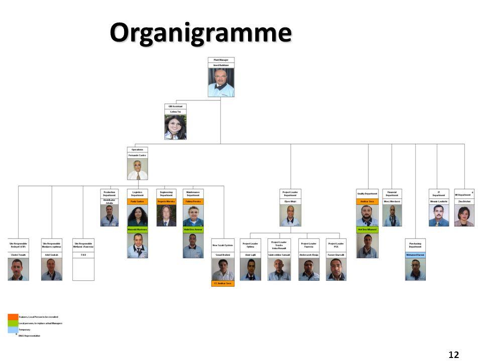 12 Organigramme