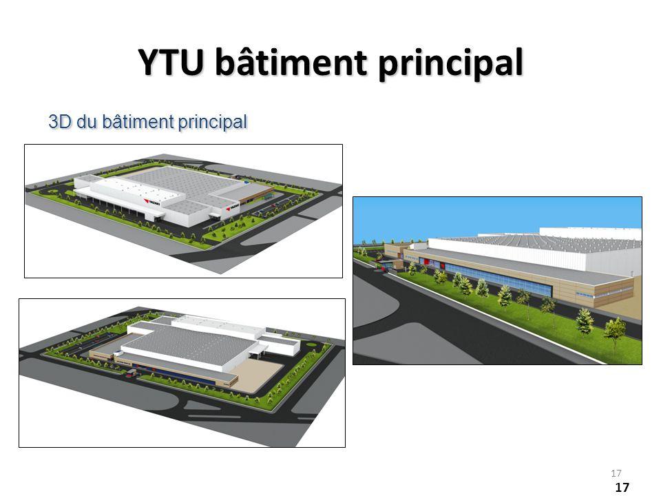 17 3D du bâtiment principal YTU bâtiment principal