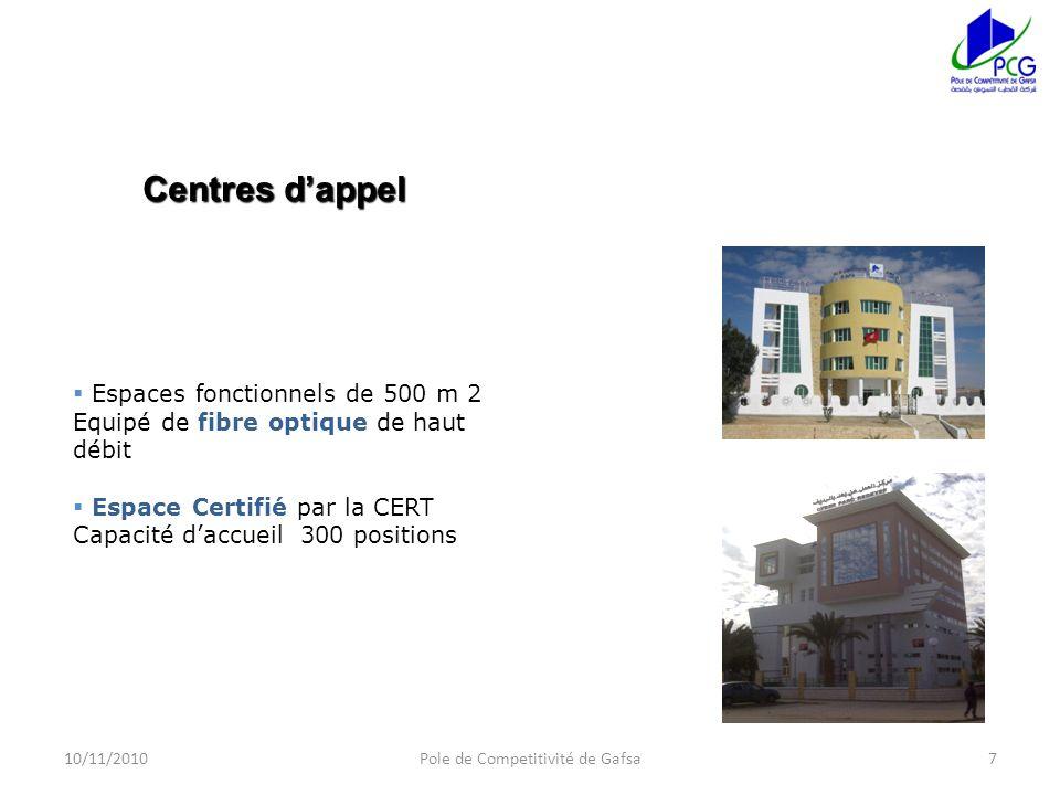 8 Groupe Yazaki Benetton Somocer Poulina Alfieri 8 4/Programmes de partenariat 10/11/20108Pole de Competitivité de Gafsa