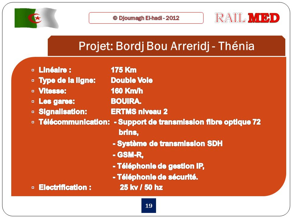 Projet: Bordj Bou Arreridj - Thénia 19