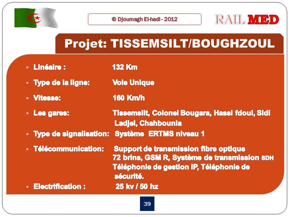 39 Projet: TISSEMSILT/BOUGHZOUL