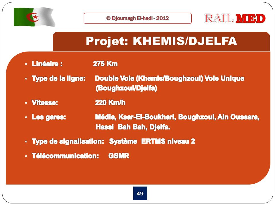 49 Projet: KHEMIS/DJELFA