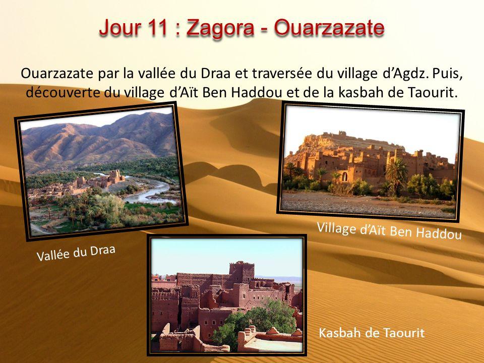 Jour 10 : Erfoud - Zagora Matin, excursion facultative aux dunes de Merzouga. Puis traversée du Tafilalet et de ses villages oasis, Tazarine et Tanssi