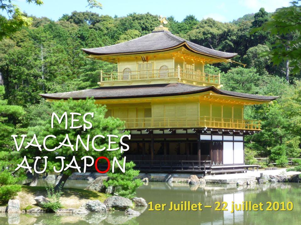 Destination partis Au mois de juillet, nous sommes partis au Japon pendant 3 semaines.