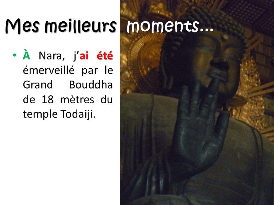 été À Nara, jai été émerveillé par le Grand Bouddha de 18 mètres du temple Todaiji.
