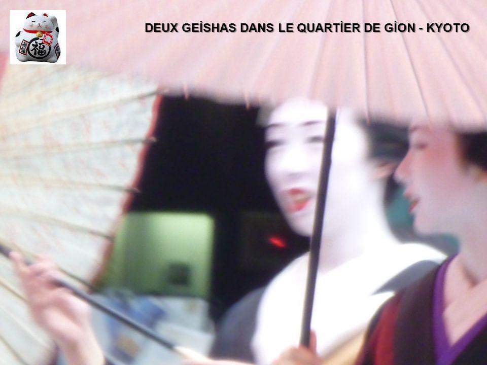 DEUX GEİSHAS DANS LE QUARTİER DE GİON - KYOTO