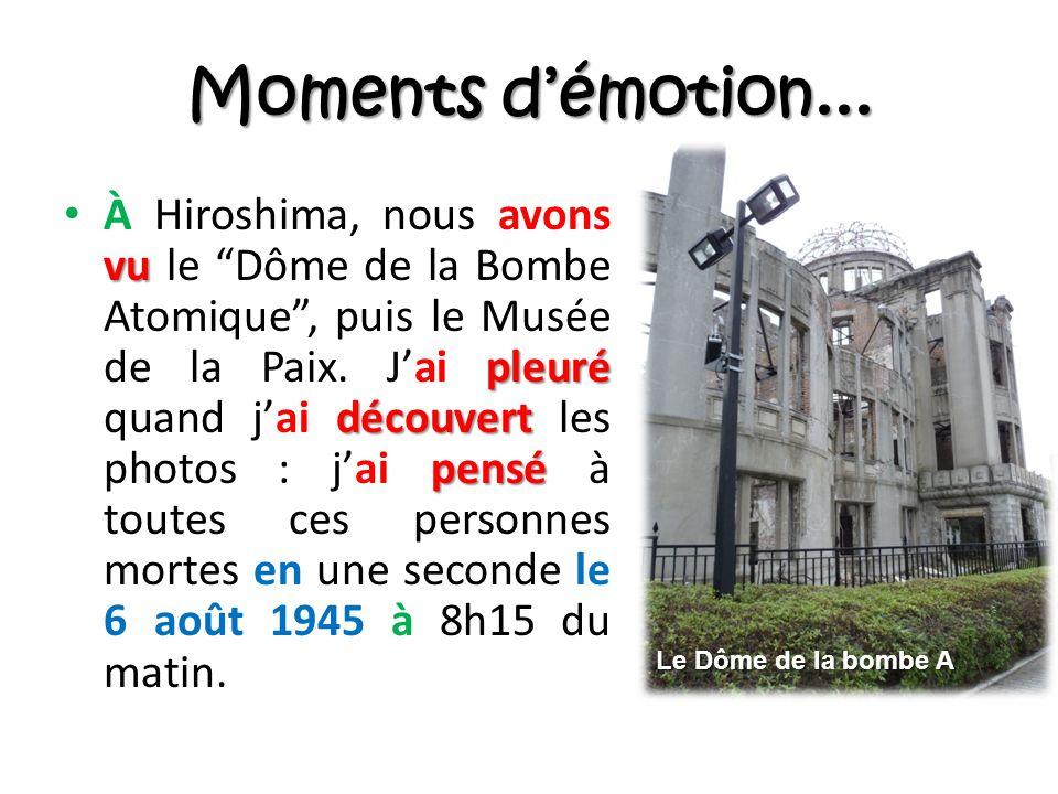 Moments démotion...