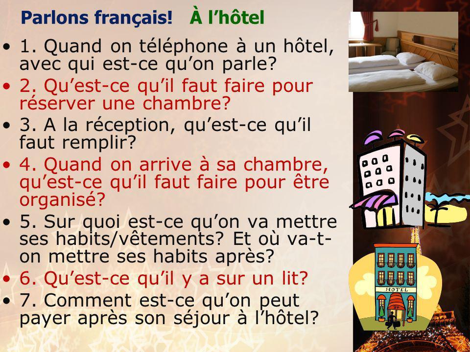 français 2 PARLONS ! : Laéroport et les verbes en -ir HOTESSE DE LAIR: Pardon, monsieur, finissez-vous le repas ? PASSAGER : PASSAGER : Pardon, monsie