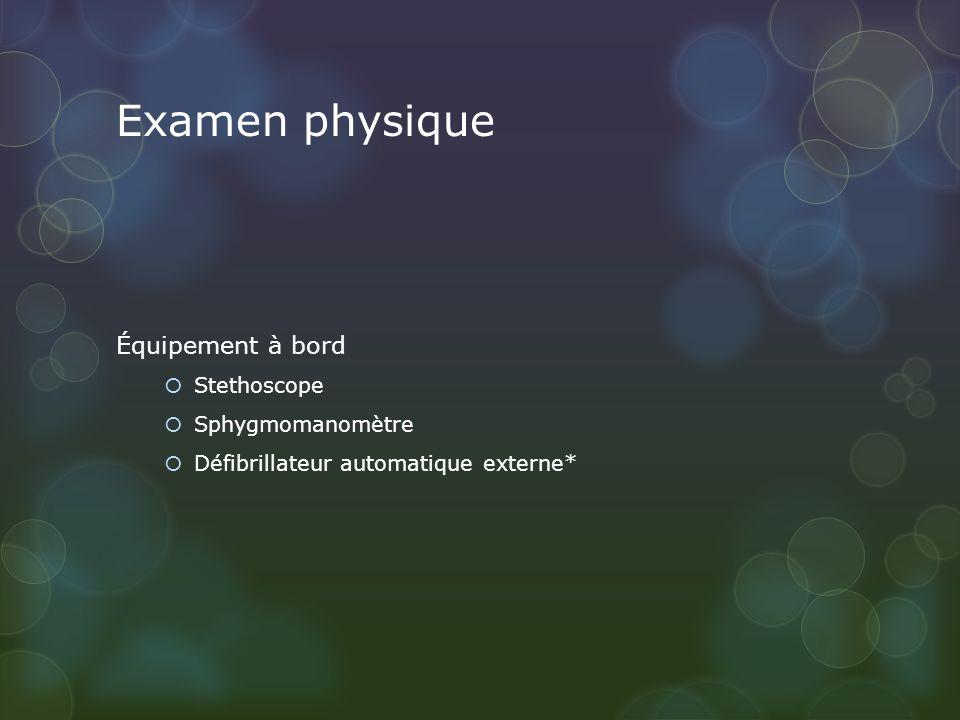 Examen physique Équipement à bord Stethoscope Sphygmomanomètre Défibrillateur automatique externe*