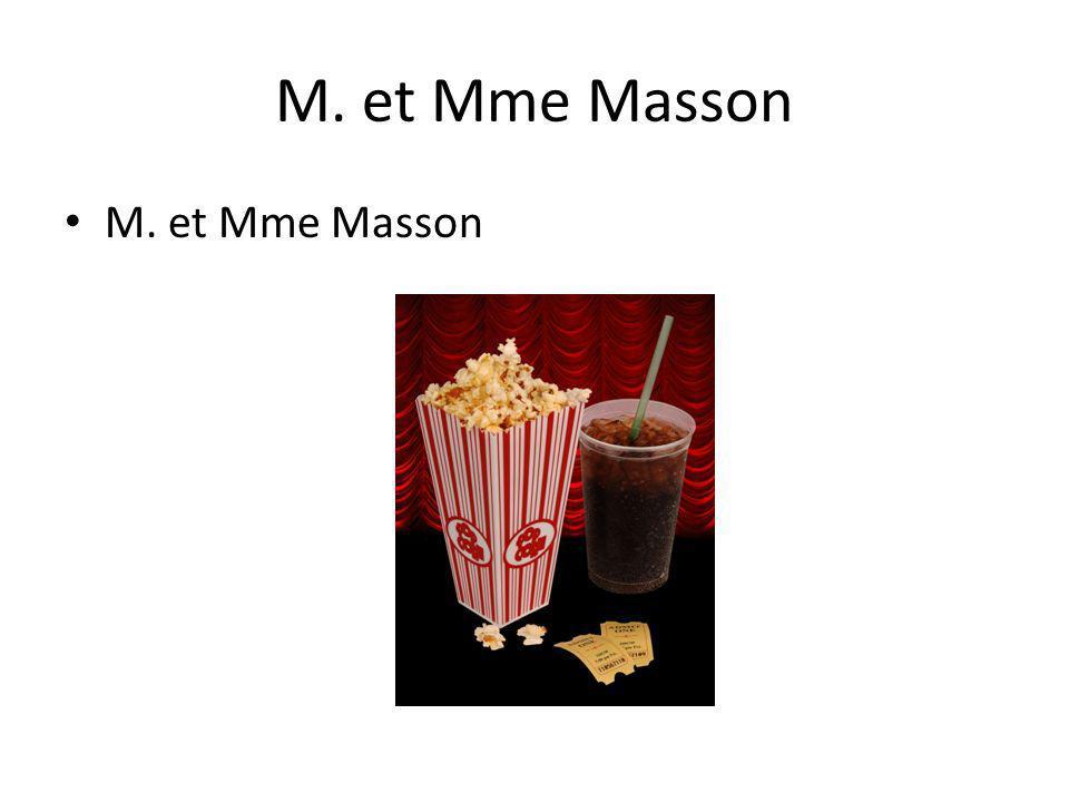 M. et Mme Masson
