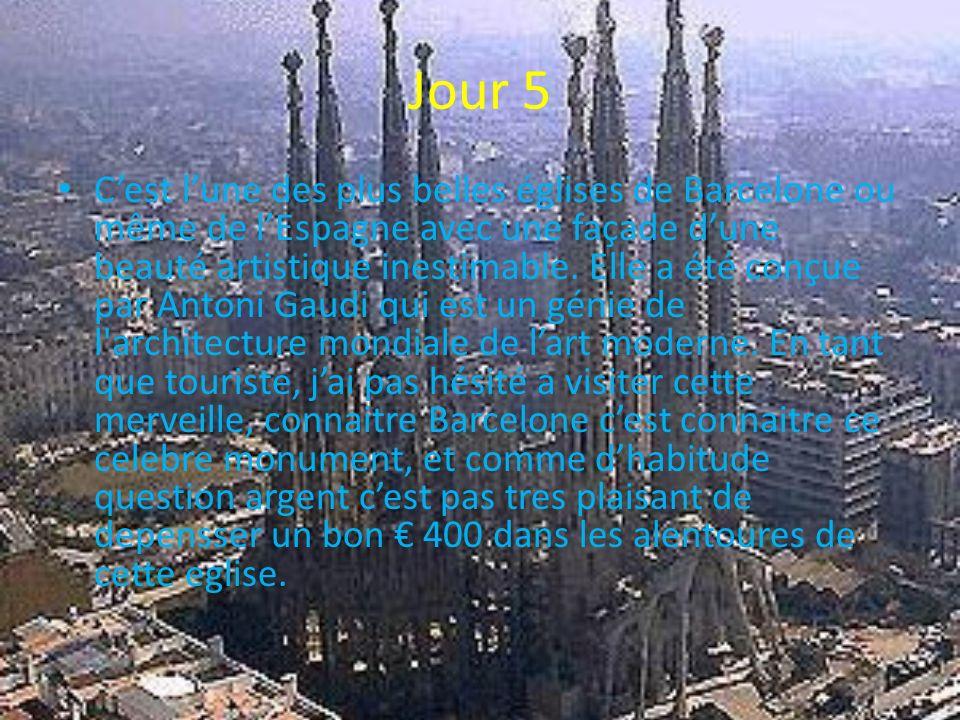 Jour 5 Cest lune des plus belles églises de Barcelone ou même de lEspagne avec une façade dune beauté artistique inestimable. Elle a été conçue par An