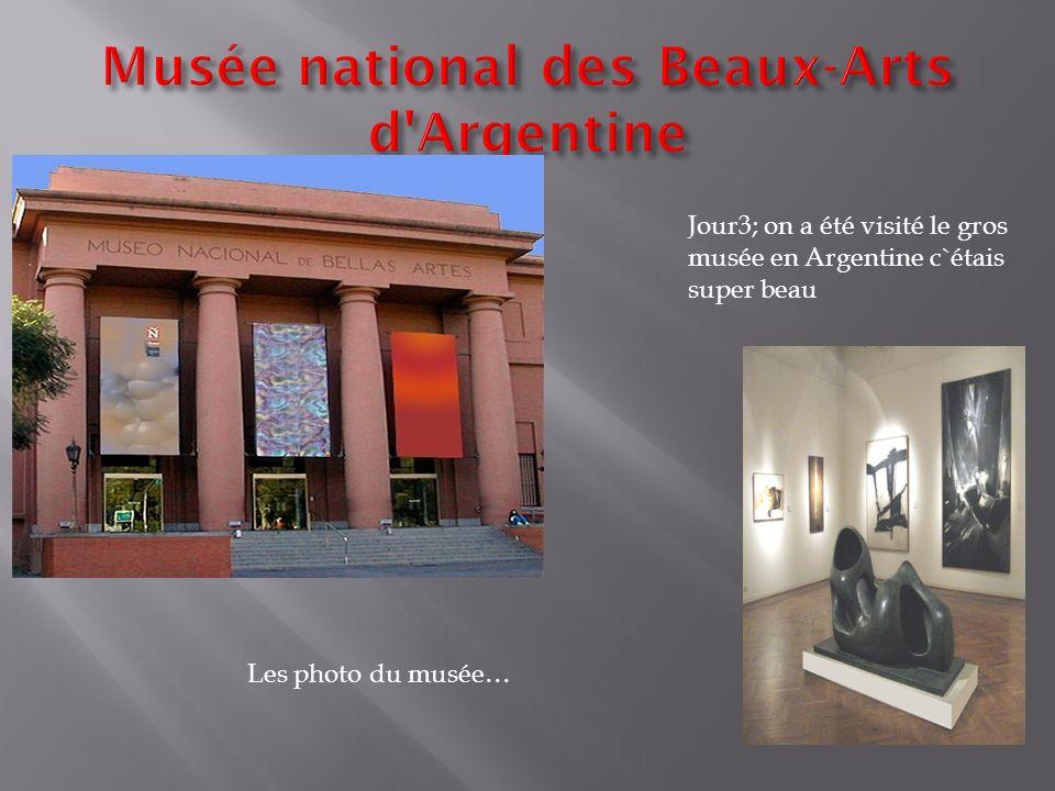 Jour3; on a été visité le gros musée en Argentine c`étais super beau Les photo du musée…