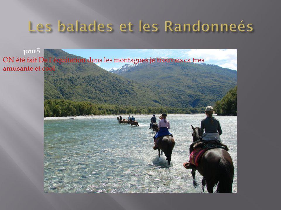 ON été fait De l`équitation dans les montagnes je trouvais ca tres amusante et cool jour5