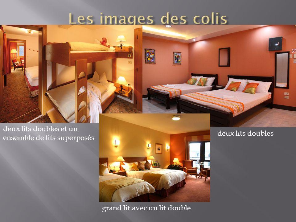 deux lits doubles et un ensemble de lits superposés deux lits doubles grand lit avec un lit double