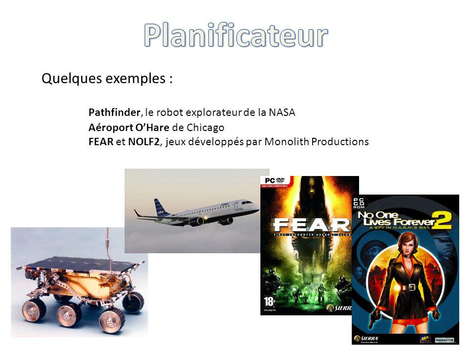 Quelques exemples : Pathfinder, le robot explorateur de la NASA Aéroport OHare de Chicago FEAR et NOLF2, jeux développés par Monolith Productions