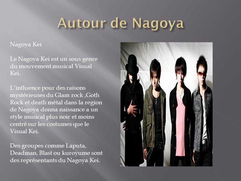 Nagoya Kei Le Nagoya Kei est un sous genre du mouvement musical Visual Kei. Linfluence pour des raisons mystérieuses du Glam rock,Goth Rock et death m