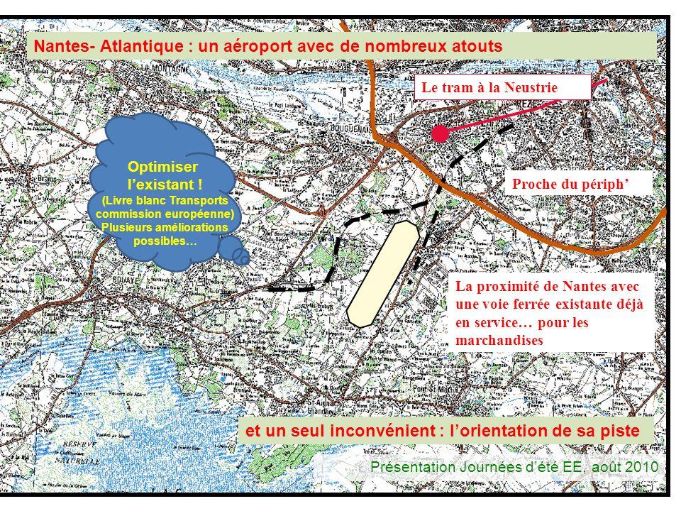 4 Le tram à la Neustrie La proximité de Nantes avec une voie ferrée existante déjà en service… pour les marchandises Proche du périph Nantes- Atlantiq