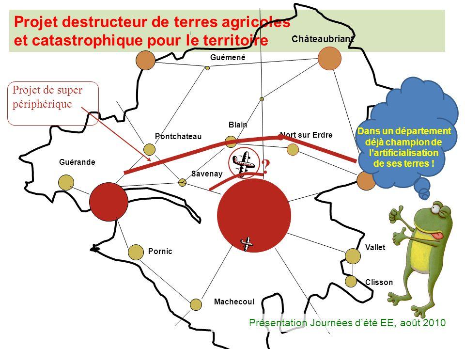 Projet destructeur de terres agricoles et catastrophique pour le territoire Pontchateau Blain Nort sur Erdre Ancenis Châteaubriant Guémené Vallet Clis