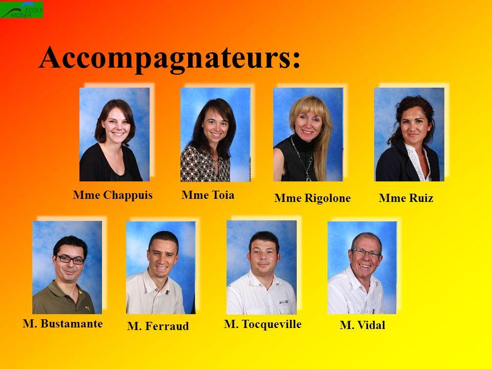 Accompagnateurs: Mme Toia M.Vidal M. Ferraud Mme Rigolone M.