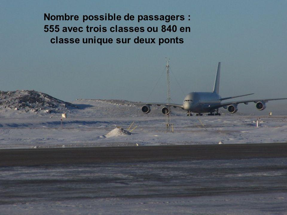 Nombre possible de passagers : 555 avec trois classes ou 840 en classe unique sur deux ponts