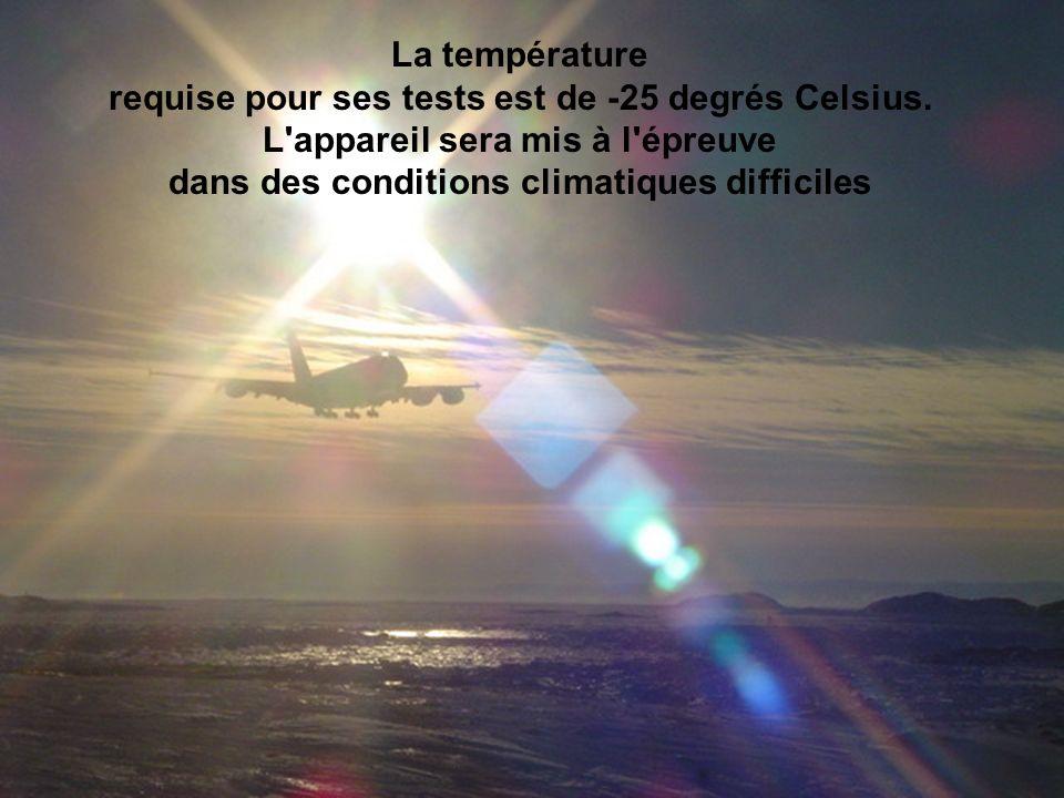 La température requise pour ses tests est de -25 degrés Celsius.