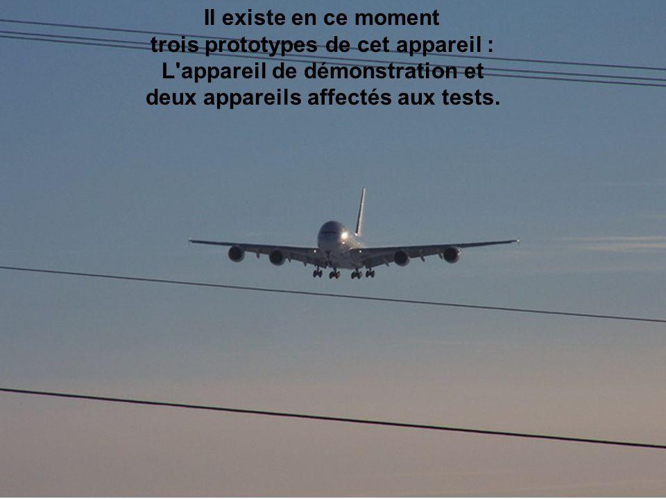 Le but des essais est de vérifier le comportement des moteurs et de la cabine.