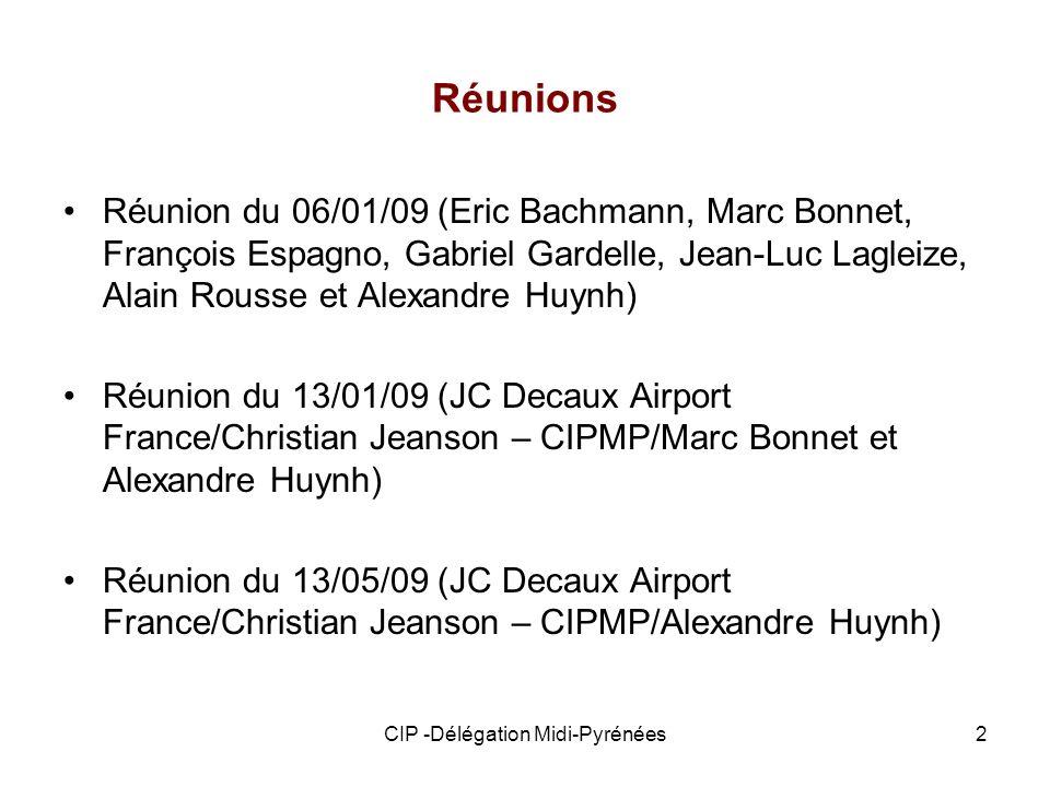 CIP -Délégation Midi-Pyrénées2 Réunions Réunion du 06/01/09 (Eric Bachmann, Marc Bonnet, François Espagno, Gabriel Gardelle, Jean-Luc Lagleize, Alain