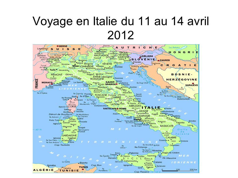 Départ : le voyage Mercredi 11 avril 2012 R.D.V.