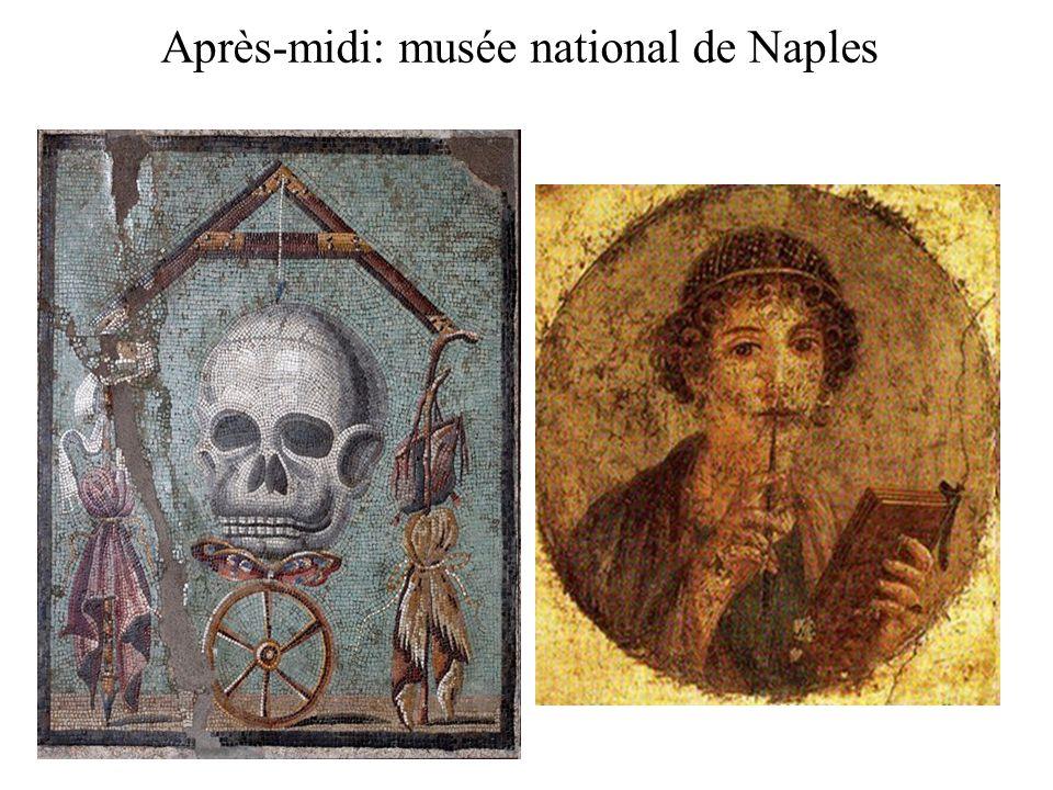 Après-midi: musée national de Naples Visite du musée nationale de Naples