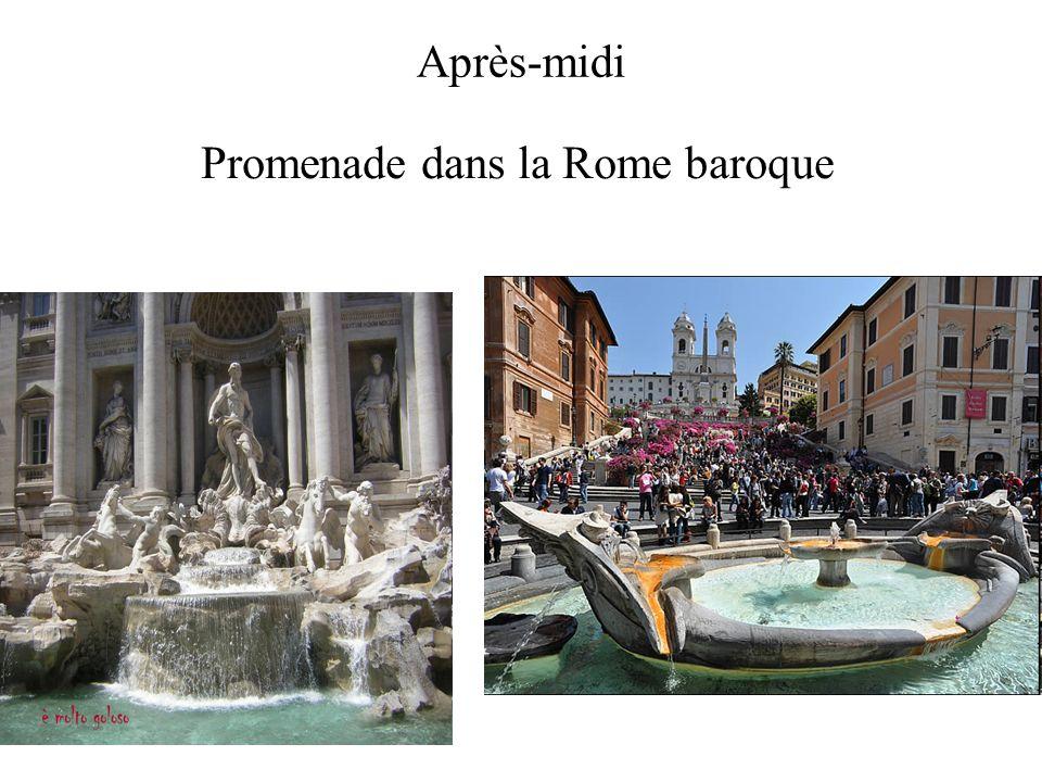 Après-midi Promenade dans la Rome baroque