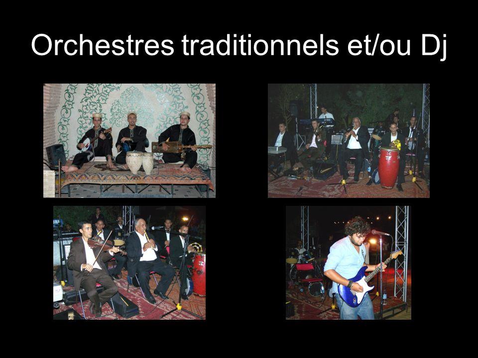 Orchestres traditionnels et/ou Dj