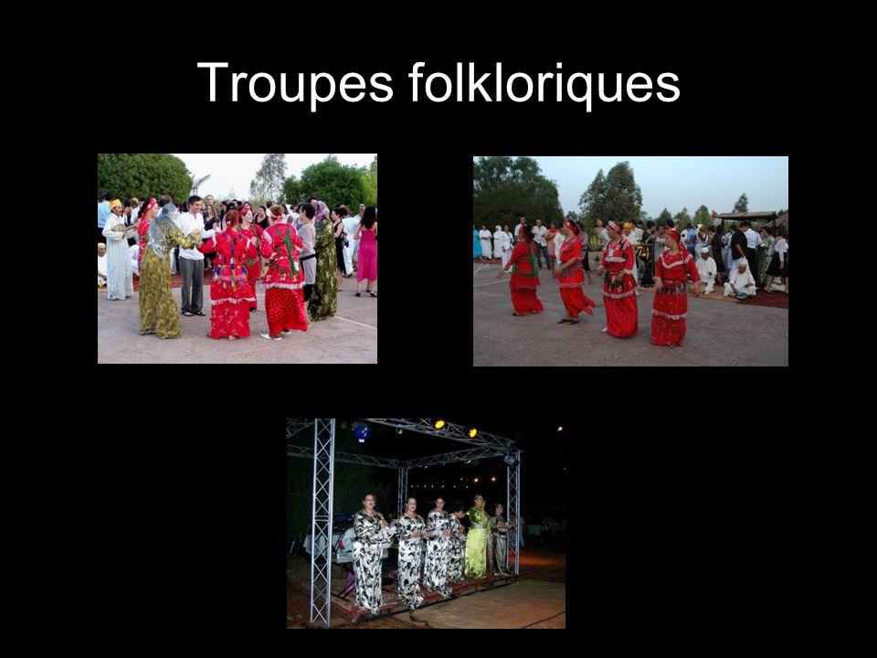 Prestation des gnafas (différentes robes traditionnelles)