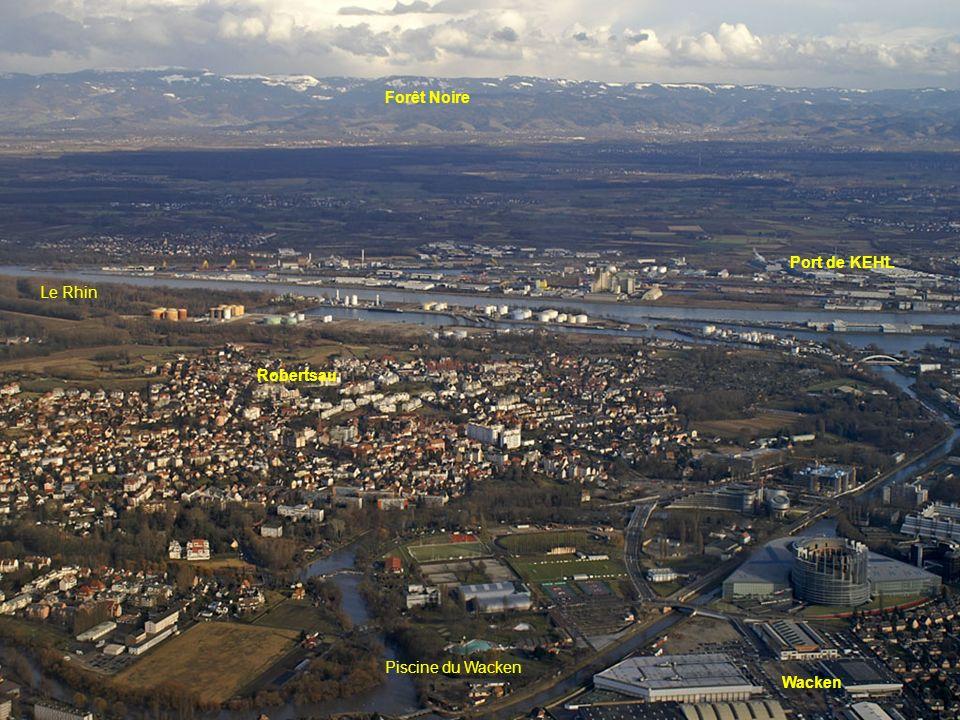 Une partie du port Robertsau Quartier des Quinze Ecluse Nord Quai Jacoutot