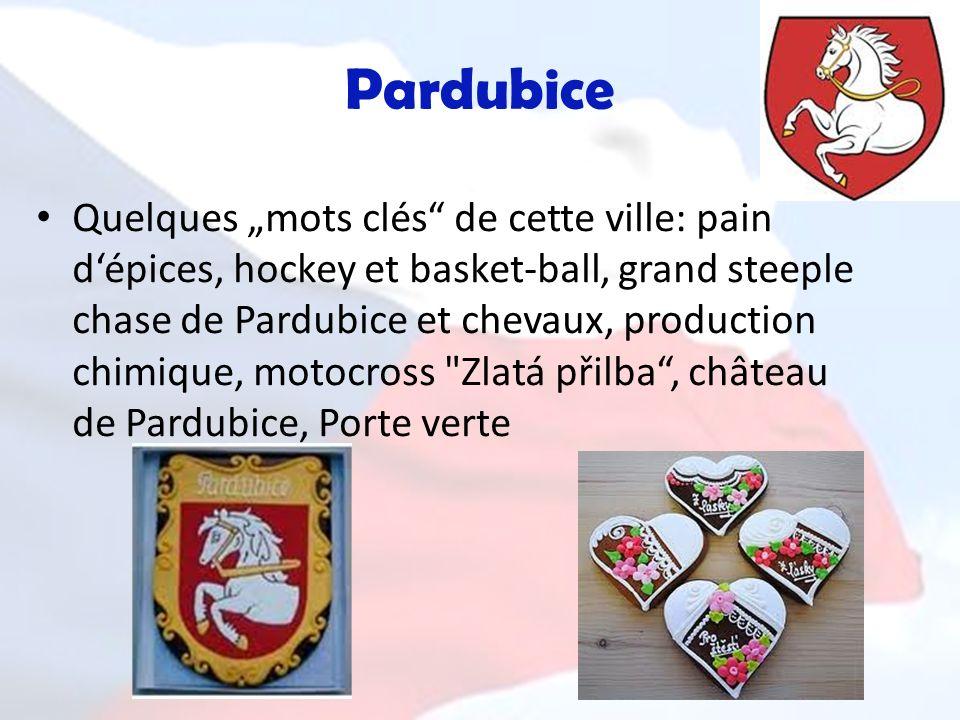 Pardubice Quelques mots clés de cette ville: pain dépices, hockey et basket-ball, grand steeple chase de Pardubice et chevaux, production chimique, mo