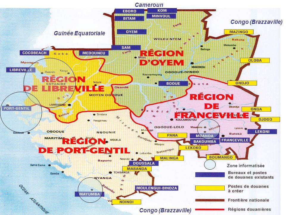 Zone informatisée Guinée Equatoriale Congo (Brazzaville) Cameroun Congo (Brazzaville)